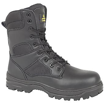 Amblers Steel FS009C Mens Metal Free Safety Work Boots FS009C Black