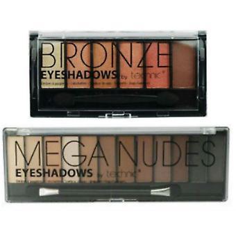 Technic Mega Naket & 6 brons Eye Shadow Palette Set