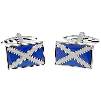 Zennor schottische Flagge Manschettenknöpfe - blau/weiß
