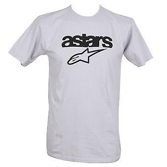 Alpinestars férfi ' s T-shirt ~ örökség lángok ezüst