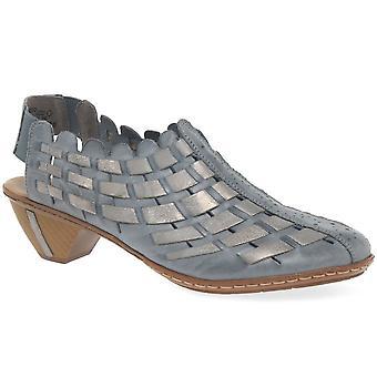 Rieker Sina tejida de cuero zapatos de tacón