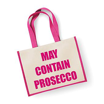 Large Pink Jute Bag May Contain Prosecco