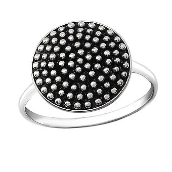 Round - 925 Sterling Silver Plain Rings - W36388x