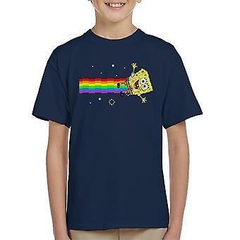 Spongebob Squarepants Nyan Cat Meme Kid's T-Shirt