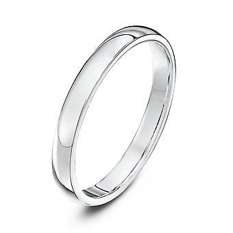Star Wedding Rings Platinum Heavy Court Shape 2.5mm Wedding Ring