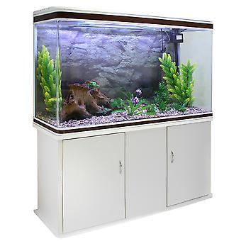 Poissons d'aquarium Tank & Cabinet avec Kit de démarrage complet - blanc