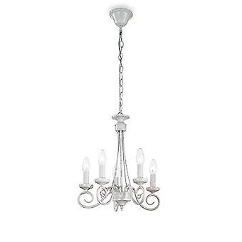 Ideel Lux - Brandy antik hvid fem lys lysekrone IDL066622