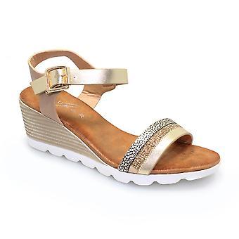 Lunar-Fellini eingekeilt Sommer Sandale