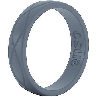 Enso Rings Women's Infinity Series Silicone Ring - Slate