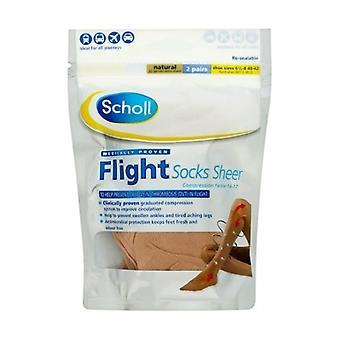 Scholl Flight Socks Sheer 6.5-8 2 Pairs