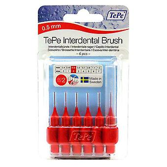 Tepe interdental Brush 0,5 punainen 6
