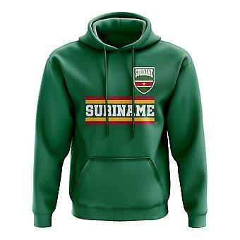 Suriname Core voetbal land Hoody (groen)
