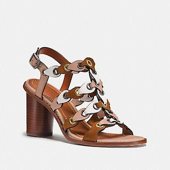 Coach Womens MH SNDL CLL Leather Open Toe Casual Slingback Sandals