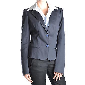 Frankie Morello Ezbc167068 Women's Blue Cotton Blazer