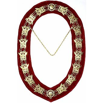 32. Grad-Scottish Rite Wings UP Chain Collar-Gold/.