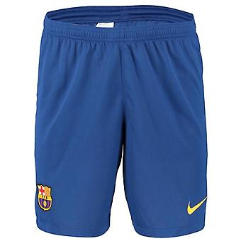 2019-2020 Barcelona hem Nike fotbolls shorts (blå)