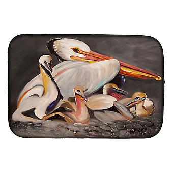 Carolines trea Sures JMK1026DDM vit Pelicans Dish torkning matta