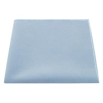 Luxury Light Baby Blue Velvet Pocket Square, Handkerchief
