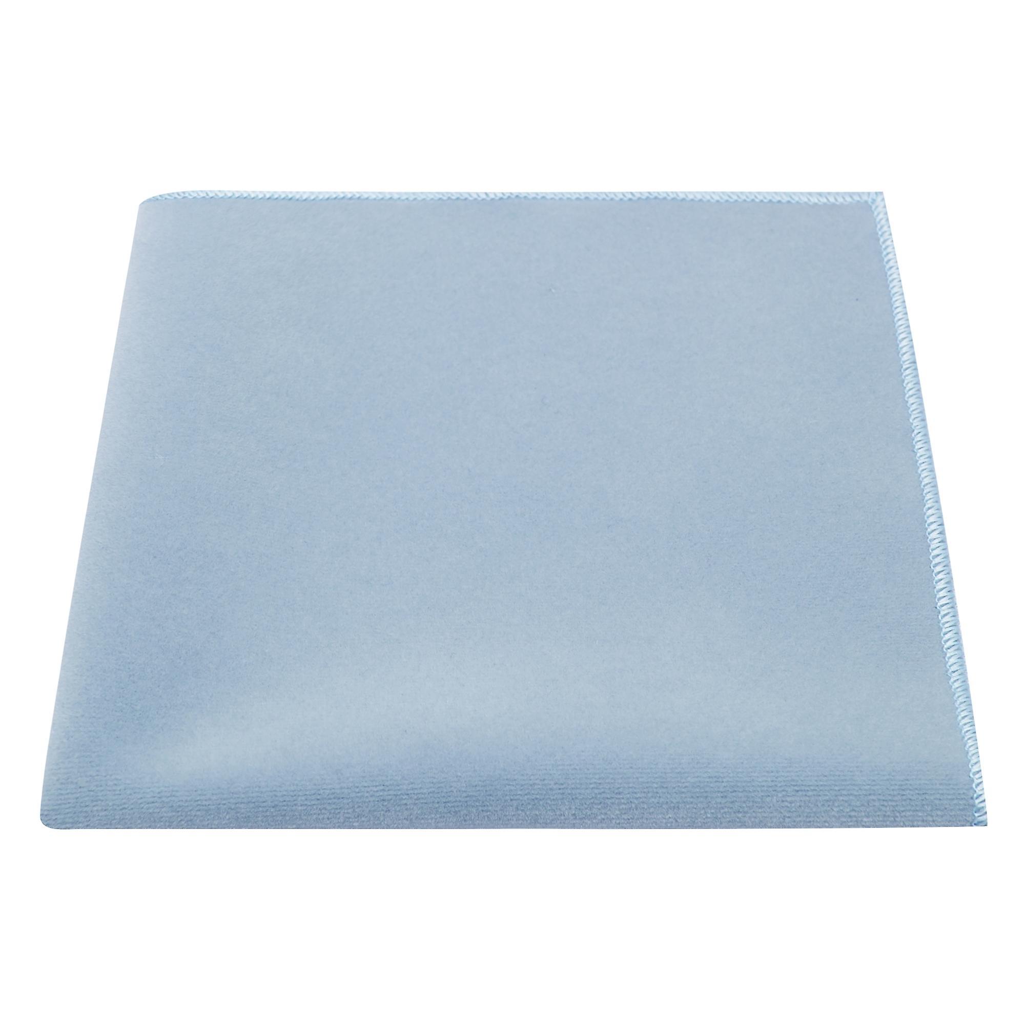 Luxury Light Baby Blue Velvet Pocket Square, Handkerchief