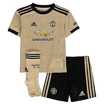 adidas Kids Manchester United Auswärts Sport Fußball Mini Kit 2019 2020
