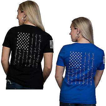 Nine Line Apparel Women's The Pledge Relaxed Fit Short Sleeve T-Shirt