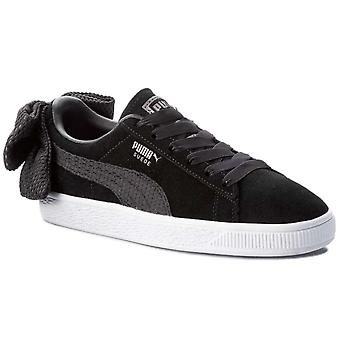 Puma Womens Bow Uprising Leather Low Top Lace Up Fashion Sneakers