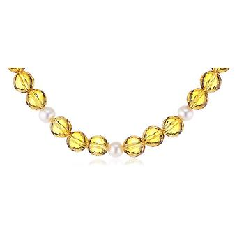 Nina Exclusiv jewelry 143 - Women's necklace with citrina - silver sterling 925 - 450 mm
