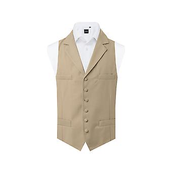 Dobell Mens Gold Buff Morning Suit Waistcoat Regular Fit Single Breasted Notch Lapel