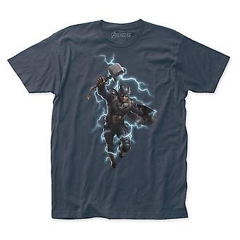 Kapteeni Amerikka wielding Mjolnir Avengers Endgame T-paita
