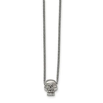 Collana teschio - 16 pollici lucidata dell'acciaio inossidabile