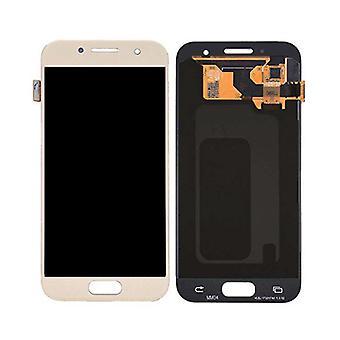 Stuff gecertificeerd® Samsung Galaxy a3 2017 A320 scherm (touchscreen + AMOLED + onderdelen) A + kwaliteit-goud