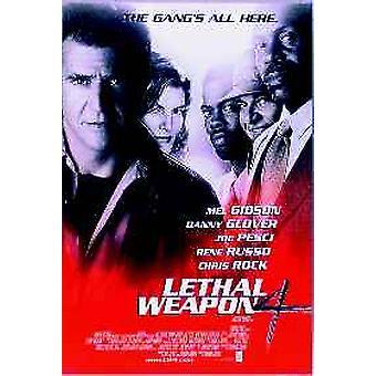 Dodelijk wapen 4 originele Cinema poster