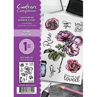 Crafter's Companion A6 Rubber Stamp - Rose Bloom