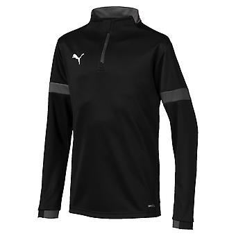 Puma FtblPLAY Bambini Calcio Fitness Training 1/4 di pista Top Camicia Nero