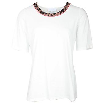 Just White Round Neck Short Sleeve T-shirt