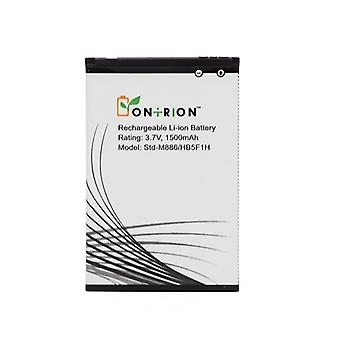 Ontrion 1500mah Lithium Ion Replacement Battery for Huawei M886 Mercury