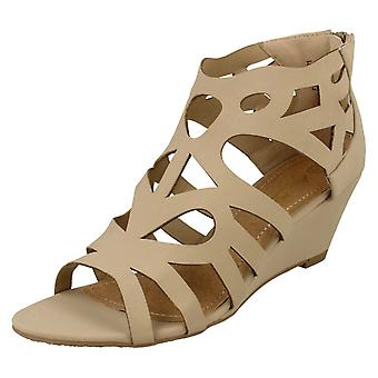 Ladies Anne Michelle Open Toe Wedge Sandals