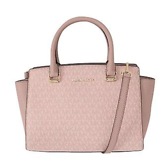 Pink SELMA Leather Satchel Bag -- MK50093168