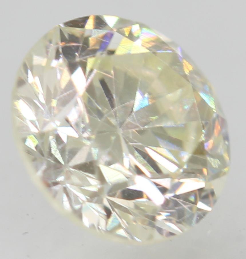 Certified 0.64 Carat H VVS2 Round Brilliant Enhanced Natural Loose Diamond 5.43m