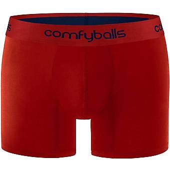 Comfyballs Cotton Long Boxer - Merlot Red/Plum