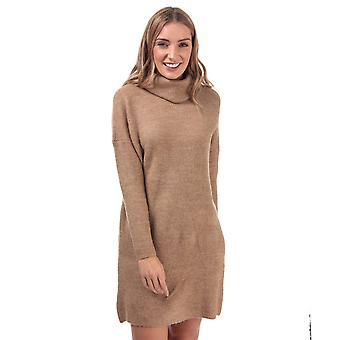 Womens Only Jana Cowl Neck Jumper Dress In Indian Tan