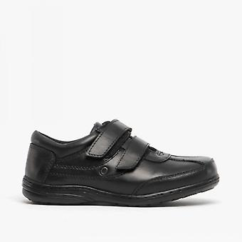 Mirak Billy Boys Leather School Shoes Black