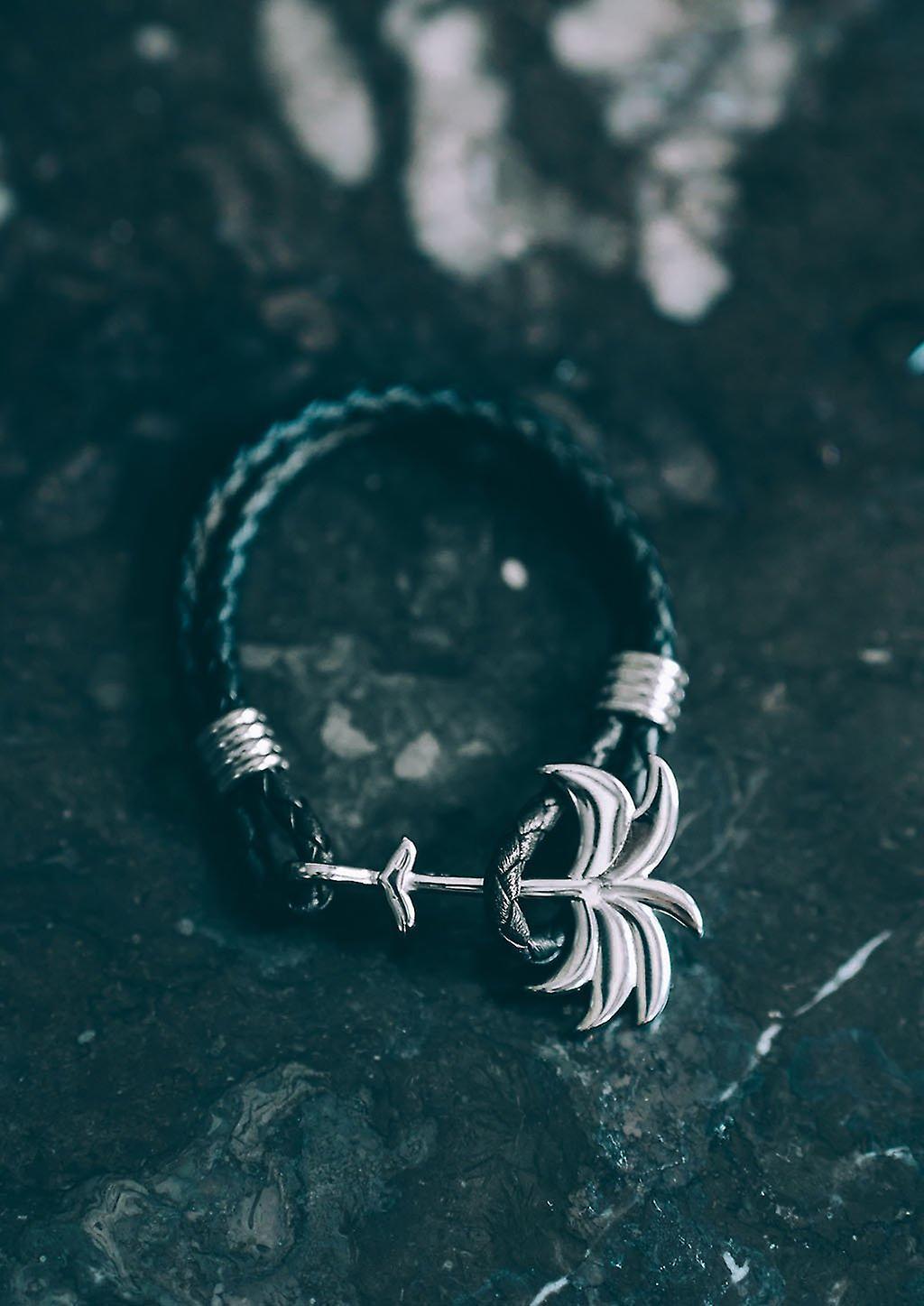 Palm Band Bracelet - Twilight Silver
