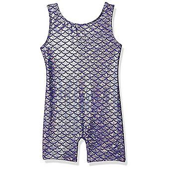 Danskin Girls' Little Gymnastics Unitard, Purple/Silver Mermaid-54236, Small ...