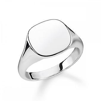 Thomas Sabo Sterling Silver Thomas Sabo Rebel At Heart Classic Silver Signet Ring TR2248-001-21