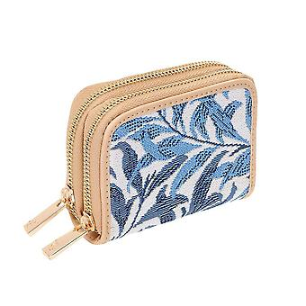 William morris - willow bough double-zip rfid wallet by signare tapestry / dzip-wiow
