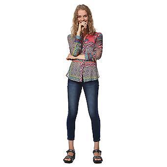 Desigual Women's Magnolia Ethnic Patchwork Boho Shirt