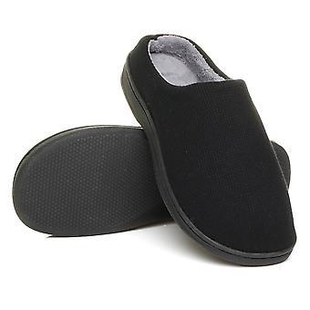 Ajvani menns flate vinterpels foret slip på minne skum gave muldyr tøfler sko størrelse
