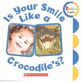 É seu sorriso como um crocodilos por outras crianças imprensa