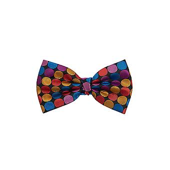 Dobell Mens Multi-Coloured Spot Bow Tie Pre-Tied